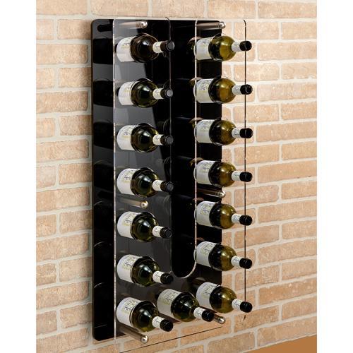 Zagreo portabottiglie in plexiglass da parete - Portabottiglie da parete ikea ...