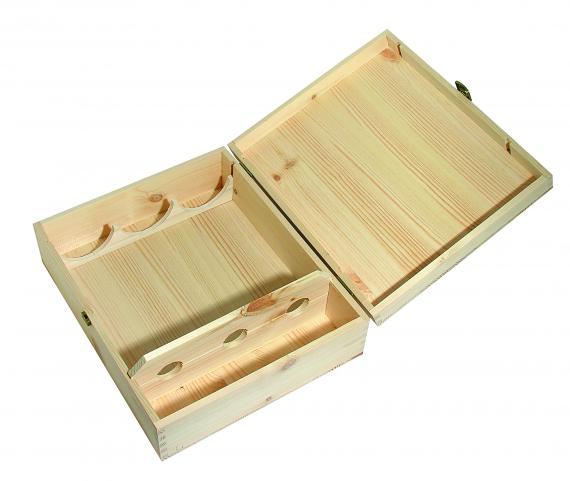 CMV srl: scatola in legno per 3 bottiglie